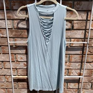 American Eagle Soft and Sexy Lace Up Tank - Size M